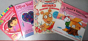 This is a picture of Valentine's Day books that were read during a speech therapy session at The Kids' Communication Center. The Kids' Communication Center provides speech and language therapy to kids or children in Northwest Washington DC.