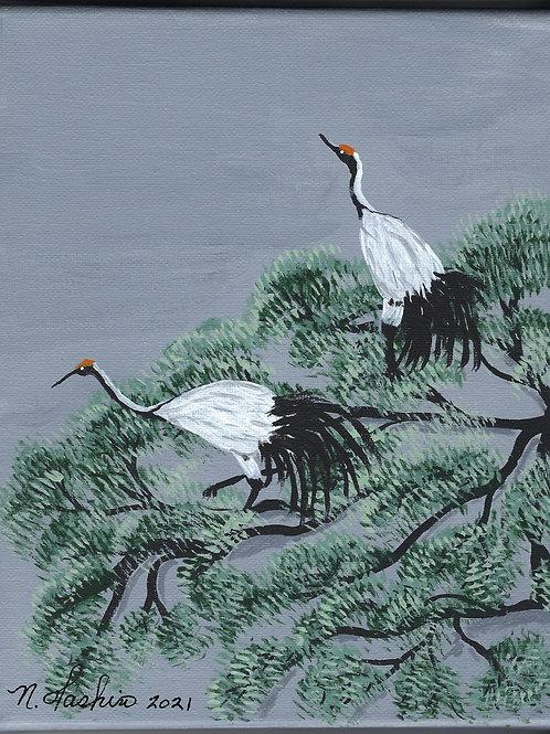 Cranes in Pine