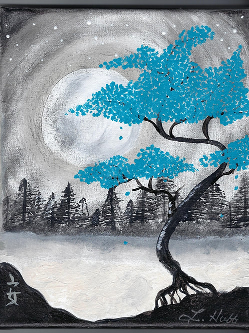 Beautiful Blue Tree