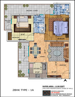 2BHK TYPE 1A