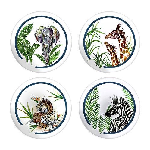 Fern&Co 4'lu Serengeti Colleciton The Wild Mix Kucuk Tabak Seti