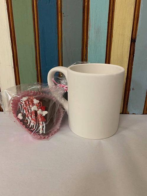 Basic Mug with Hot Cocoa Bomb