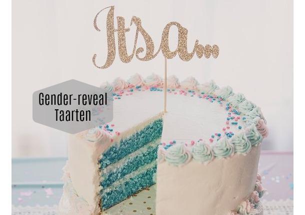 Gender-reveal taarten