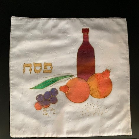"Matzah Cover ""Fruit and Wine"""