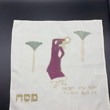 "Matzah Cover ""Miriam with her Timbrel"""