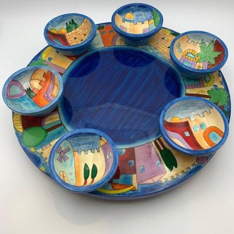 Seder Plate Set by Yair Emanuel
