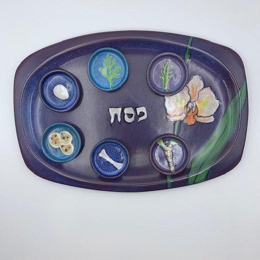 Stoneware Seder Set