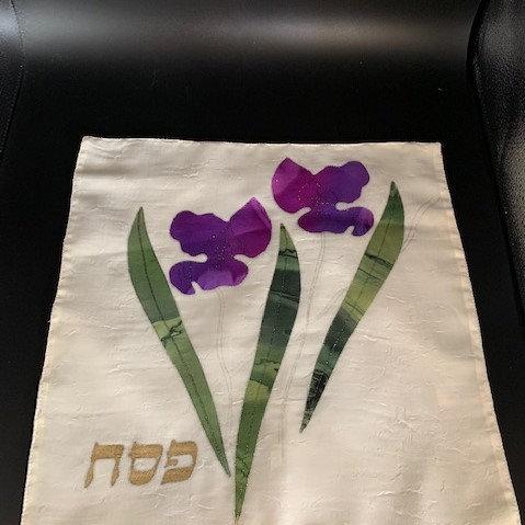 "Matzah Cover ""Iris Flowers"""