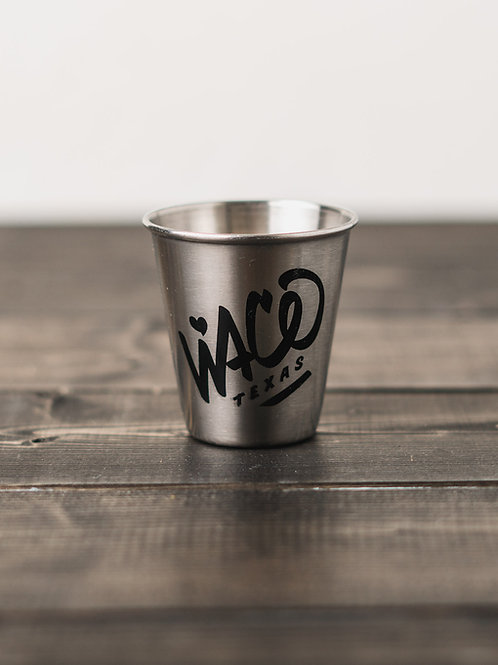 Metal Waco Texas Shot Glass