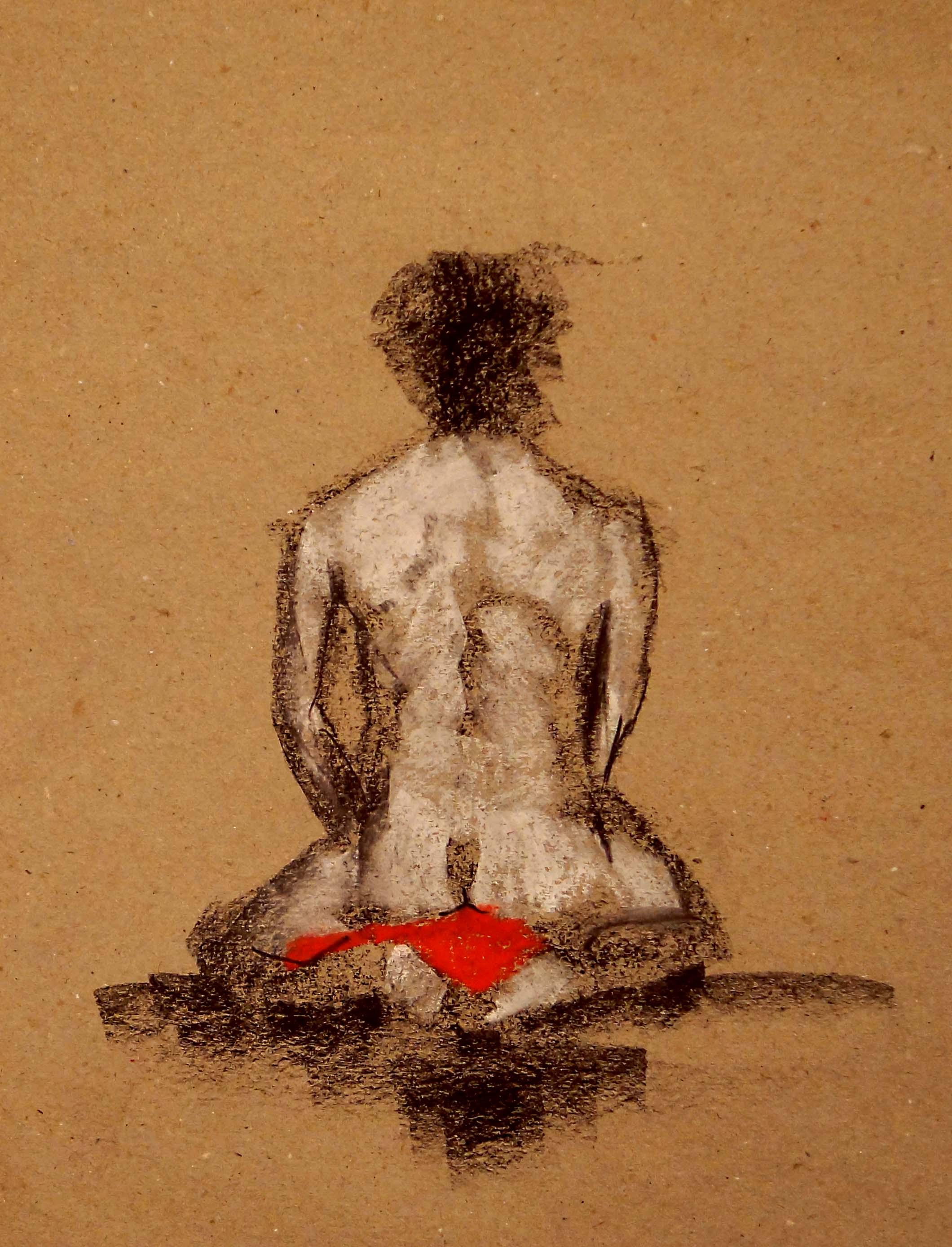 'seated nude IV'