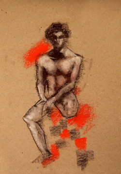 'seated nude'
