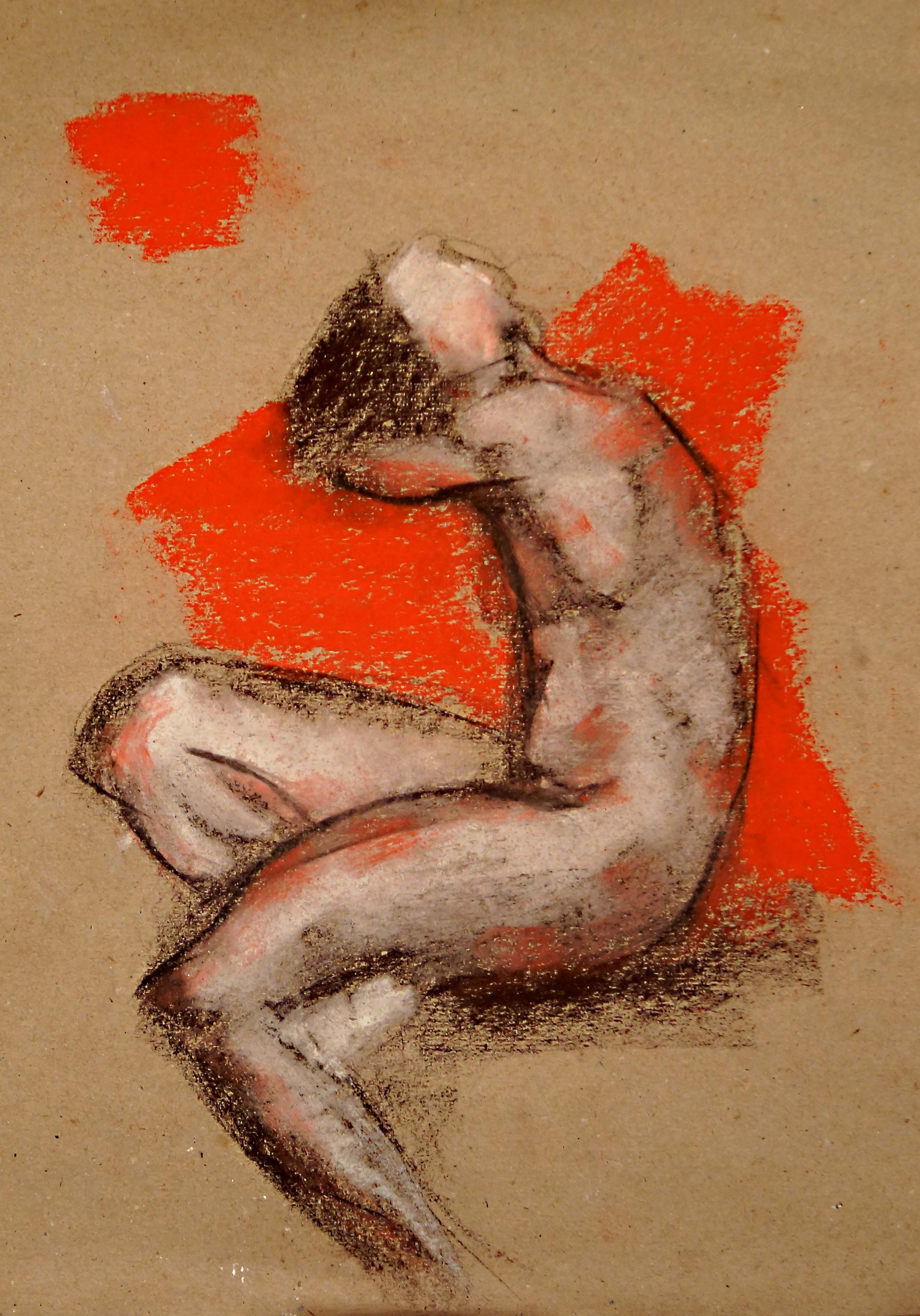 'seated nude II'