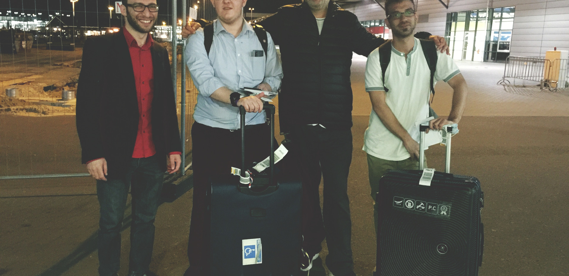 The first students arrived from Israel: Daniel and Moshe.