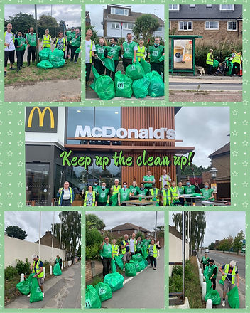 McDonald's Ashford Keep Up The Clean Up