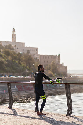 Surfer in Yaf-Tel Aviv
