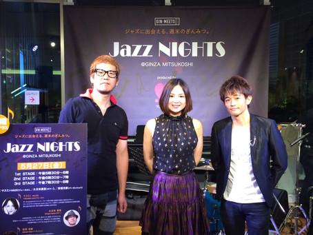 銀座三越さんにてジャズライブでした。