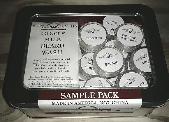 Smoke Wagon Beard Balm - 13 Pack Sampler and Beard Wash