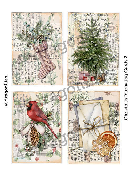 Christmas Journaling Cards 2
