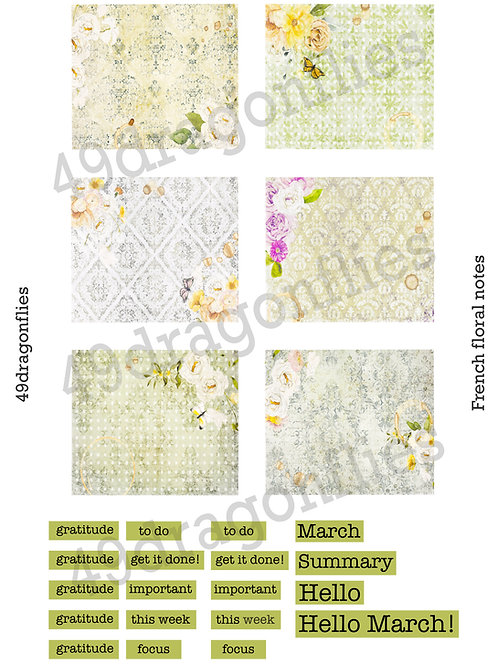 French Floral Notes