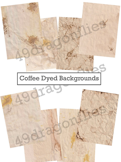 Coffee Dyed Backgrounds