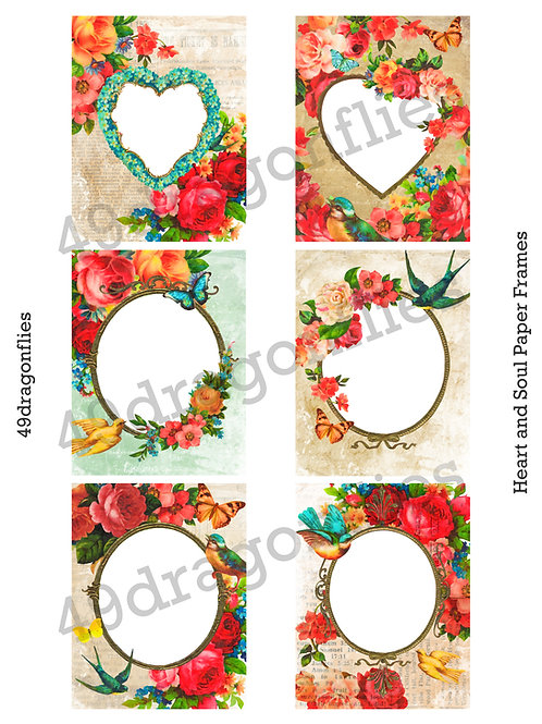 Heart and Soul Paper Frames