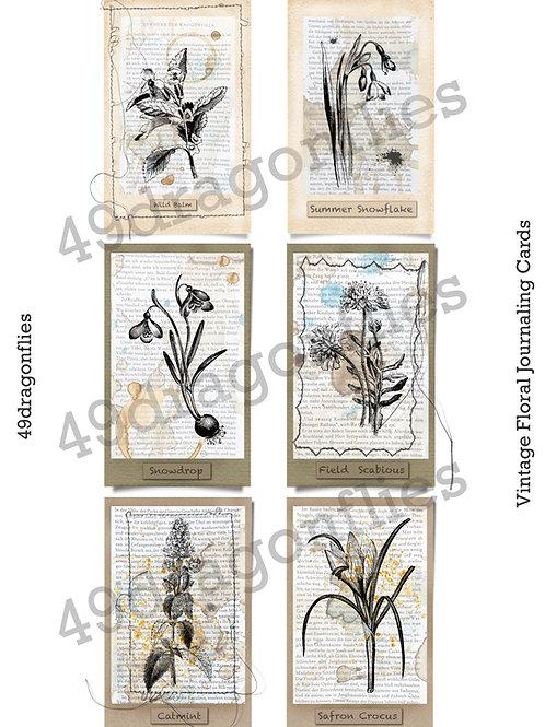 Vintage Floral Journaling Cards