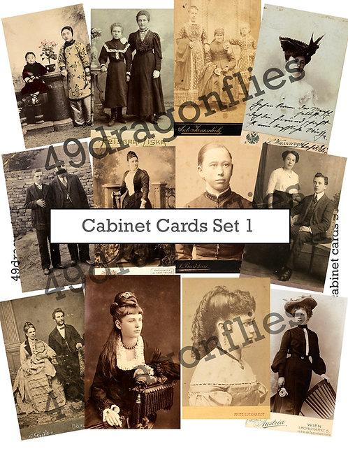 Cabinet Cards Set 1