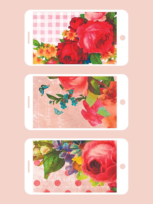 3 Phone Wallpapers, Heart & Soul Set 3