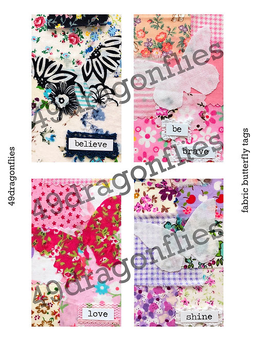 Fabric Butterfly Tags