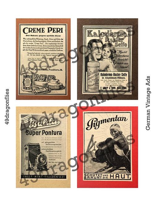 German Vintage Ads