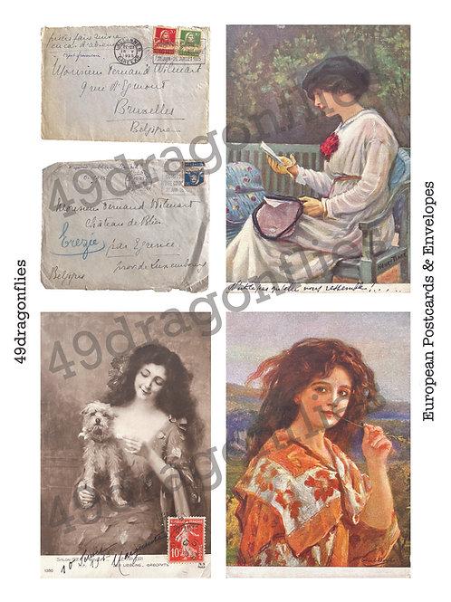 European Vintage Postcards and Envelopes