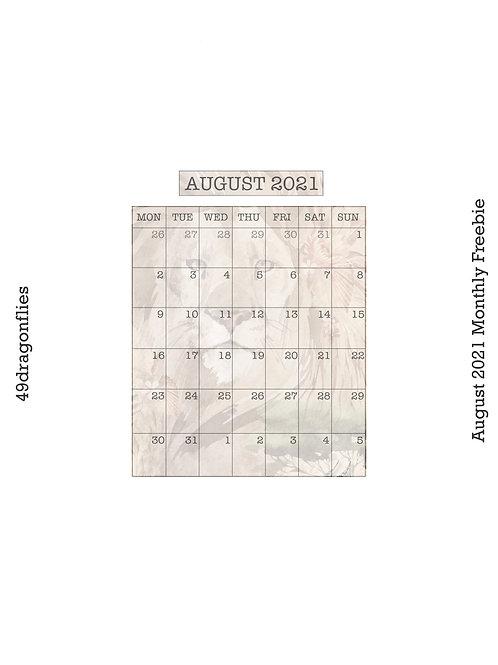 Monthly, Generic Habit Tracker, 10K Tracker August 2021 Freebie