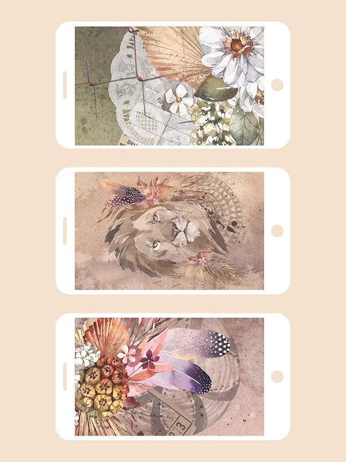 3 Phone Wallpapers, Savannah Set 3