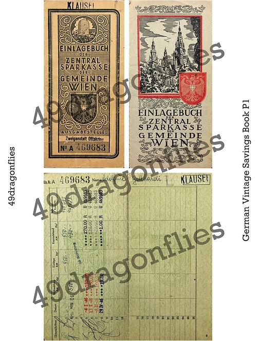 German Vintage Savings Book