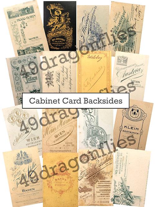 Cabinet Cards Backsides