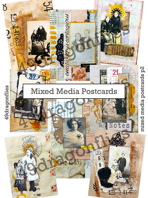 Mixed Media Post Cards
