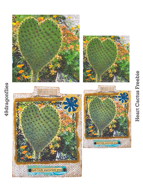 Heart-Shaped Cactus Photo and Journaling Card