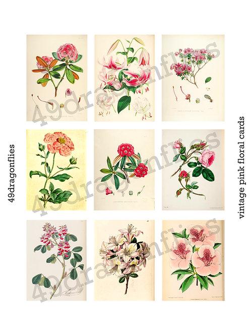 Vintage Pink Floral Cards