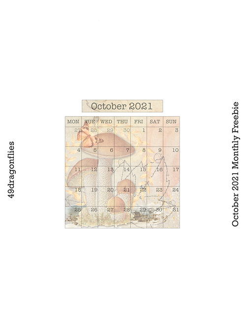 October 2021 Planner Freebies