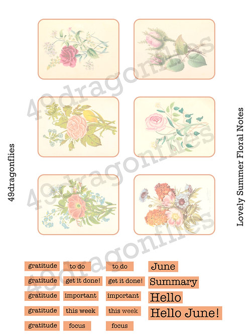 Lovely Summer Floral Notes