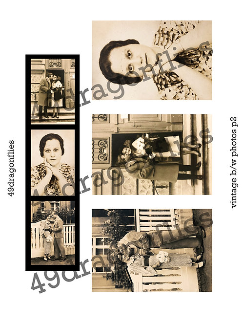 Vintage b/w photos Set 2