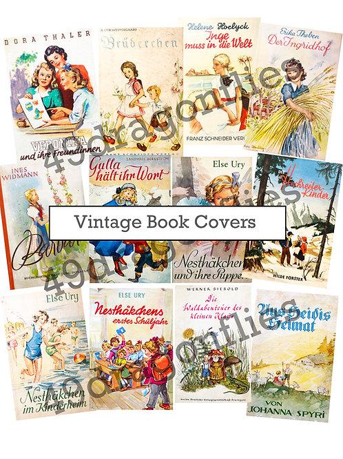 Vintage Children's Book Covers, German