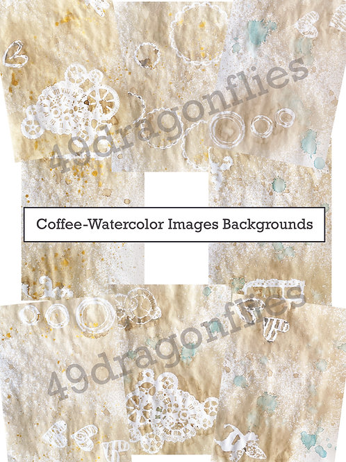 Coffee-Watercolor Images Backgrounds