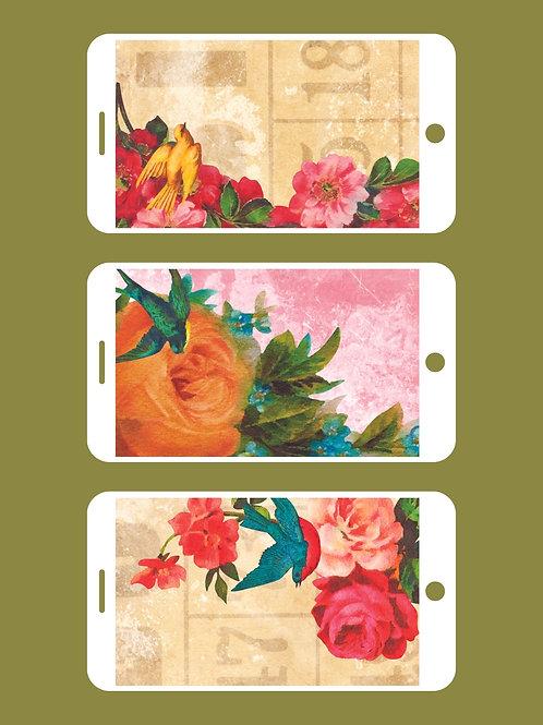 3 Phone Wallpapers, Heart & Soul Set 2