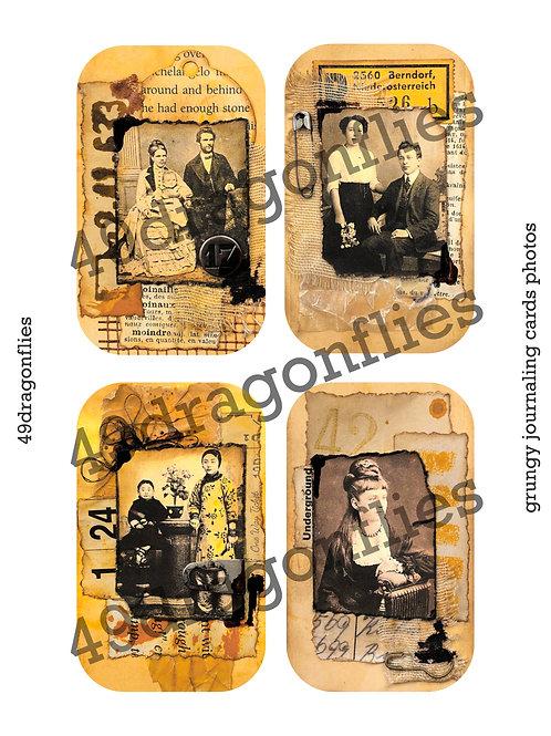 Grungy Journaling Cards Photos