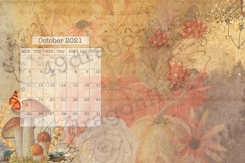 October 2021 Weeklies, Monthly and Trackers With Background