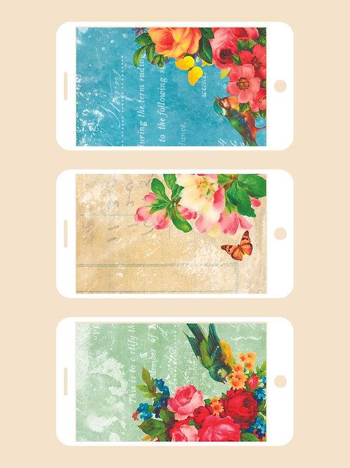3 Phone Wallpapers, Heart & Soul Set 1