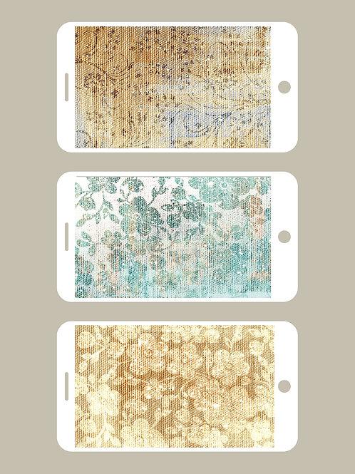3 Phone Wallpapers, Vintage Tapestry
