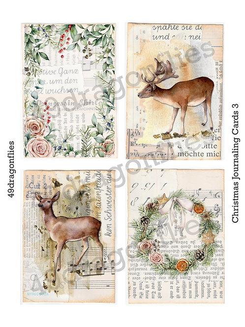 Christmas Journaling Cards 3