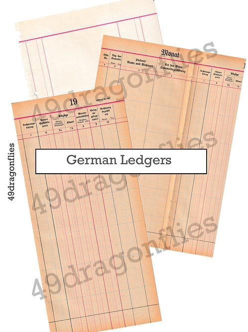 Vintage Ledgers German